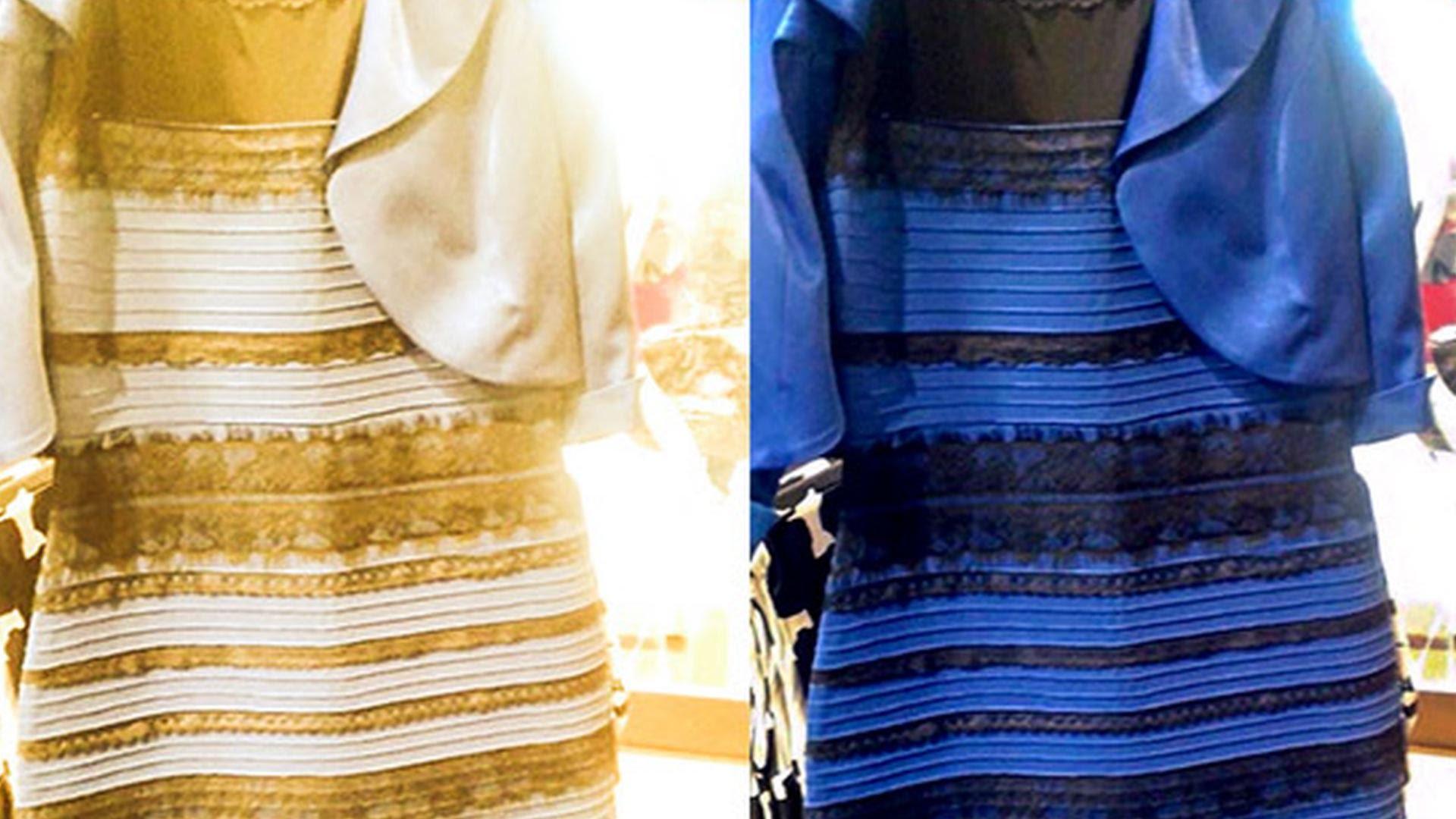 Какого цвета платье черное или золотое